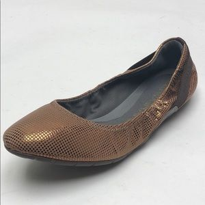 Cole Haan Zero Grand Ballet Shoes Bronze Dot New